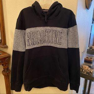 PRIMITIVE Gray & Black Hoodie Sweatshirt-Medium